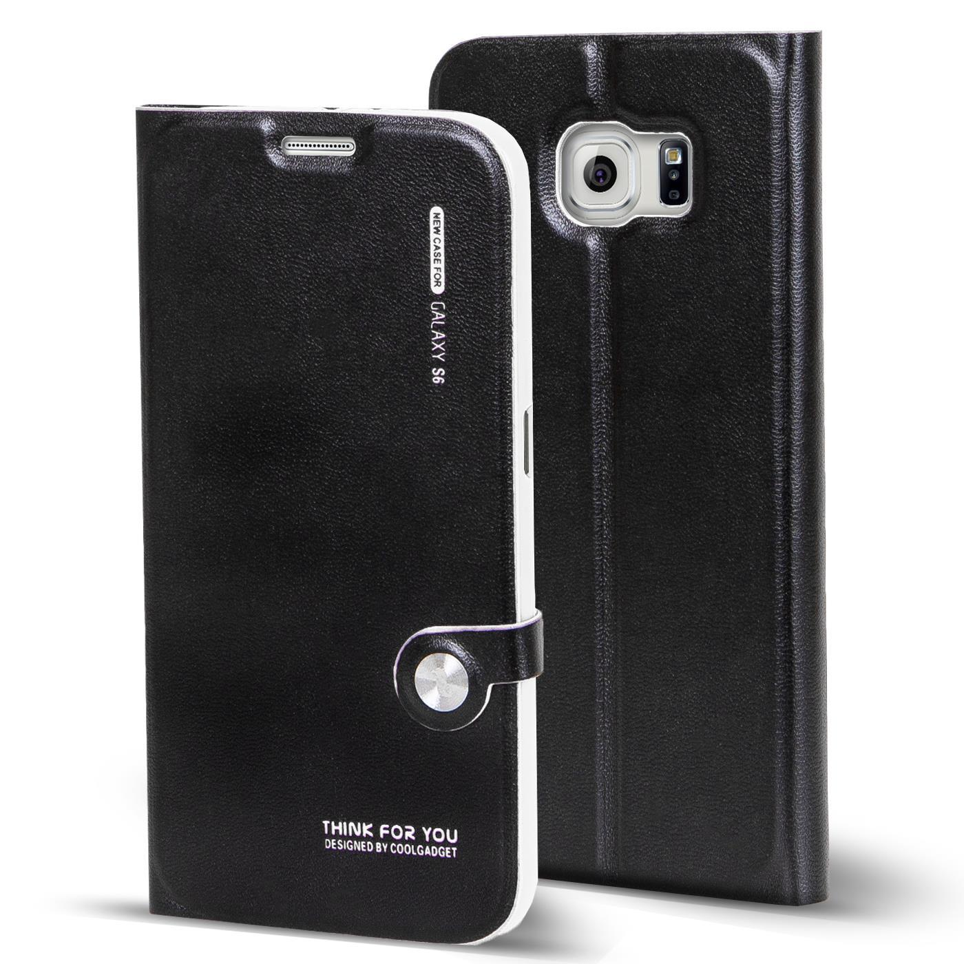 Book-Case-fuer-Samsung-Galaxy-S6-Huelle-Flip-Cover-Schutz-Tasche-Kapphuelle