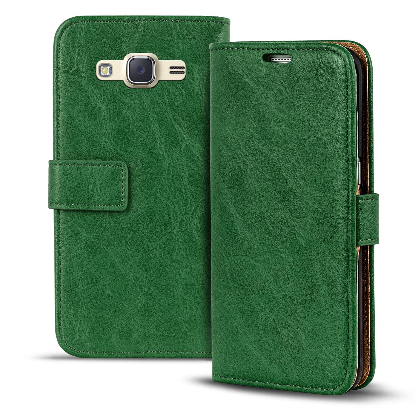 Handy-Tasche-Huelle-Samsung-Galaxy-J1-2016-Case-Klapphuelle-PU-Leder-Wallet-Cover