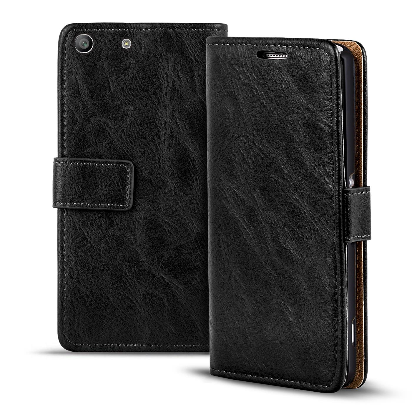 buy popular c212f 020d0 Details about Pouch Sony Xperia M5 Flip Cover Case