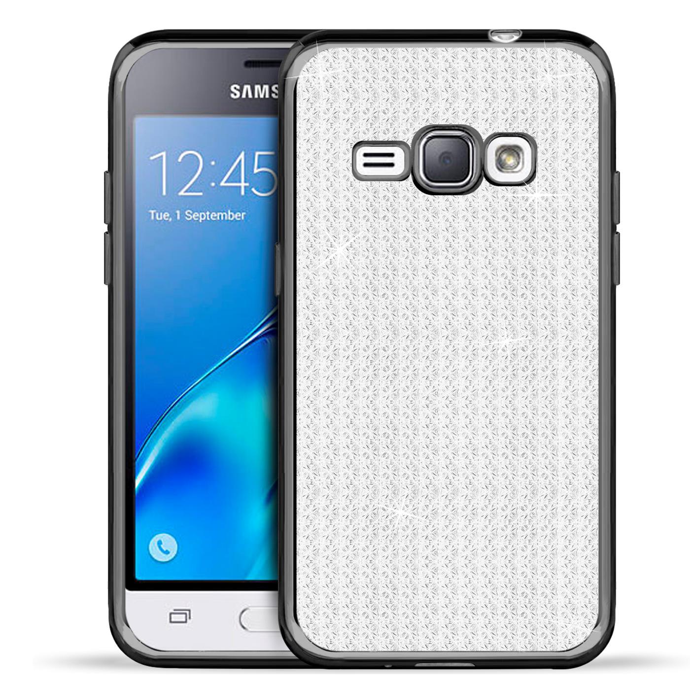 Handy-Etui-Samsung-Galaxy-J1-2016-Huelle-Glitzer-Silikon-Case-Schutz-Cover-Tasche