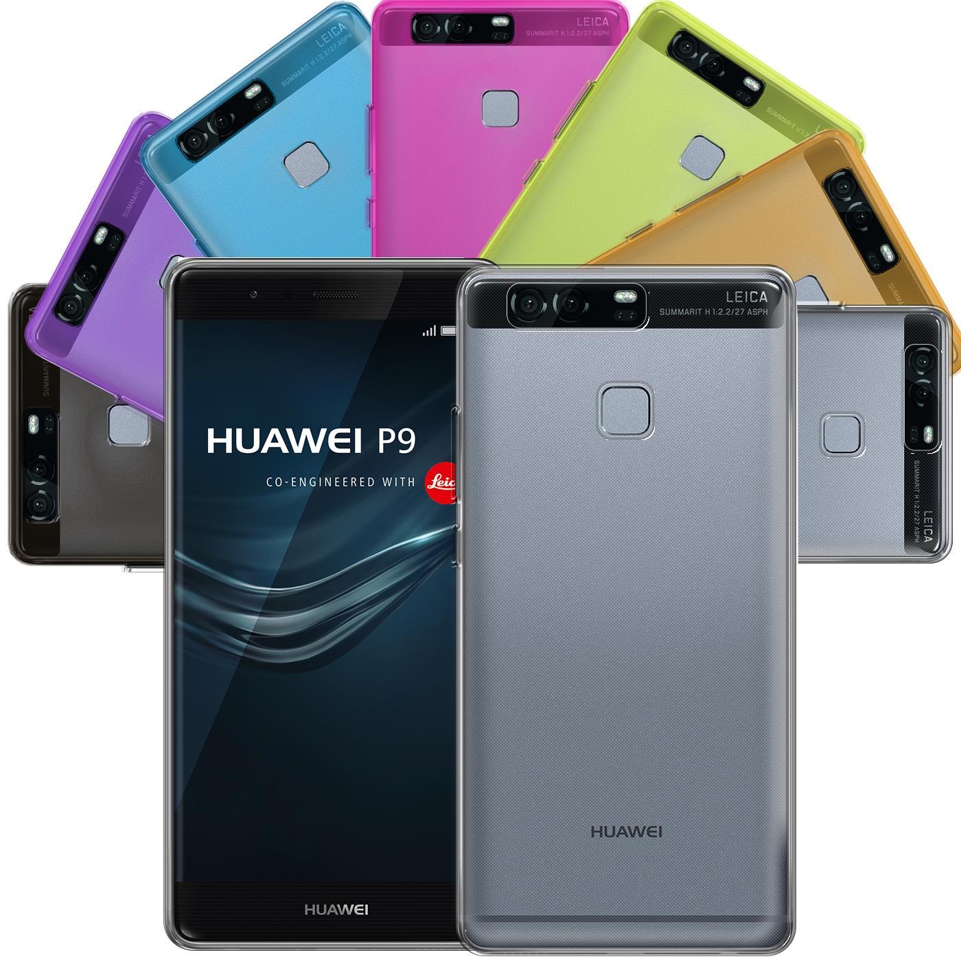 Huawei-p9-Duenn-Silikon-Klar-Case-Cover-Ultra-Slim-Stossfeste-Gel-Rueckseite