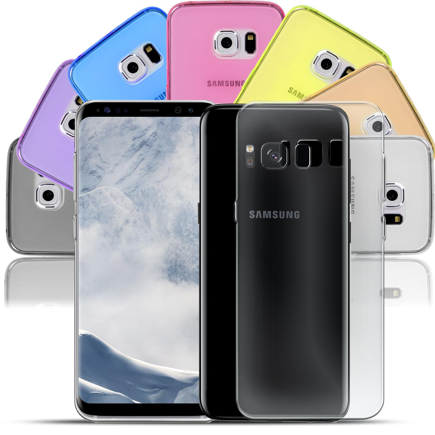 Samsung-Galaxy-s8-Duenn-Silikon-Klar-Case-Cover-Ultra-Slim-Stossfeste-Gel-Rueckseite