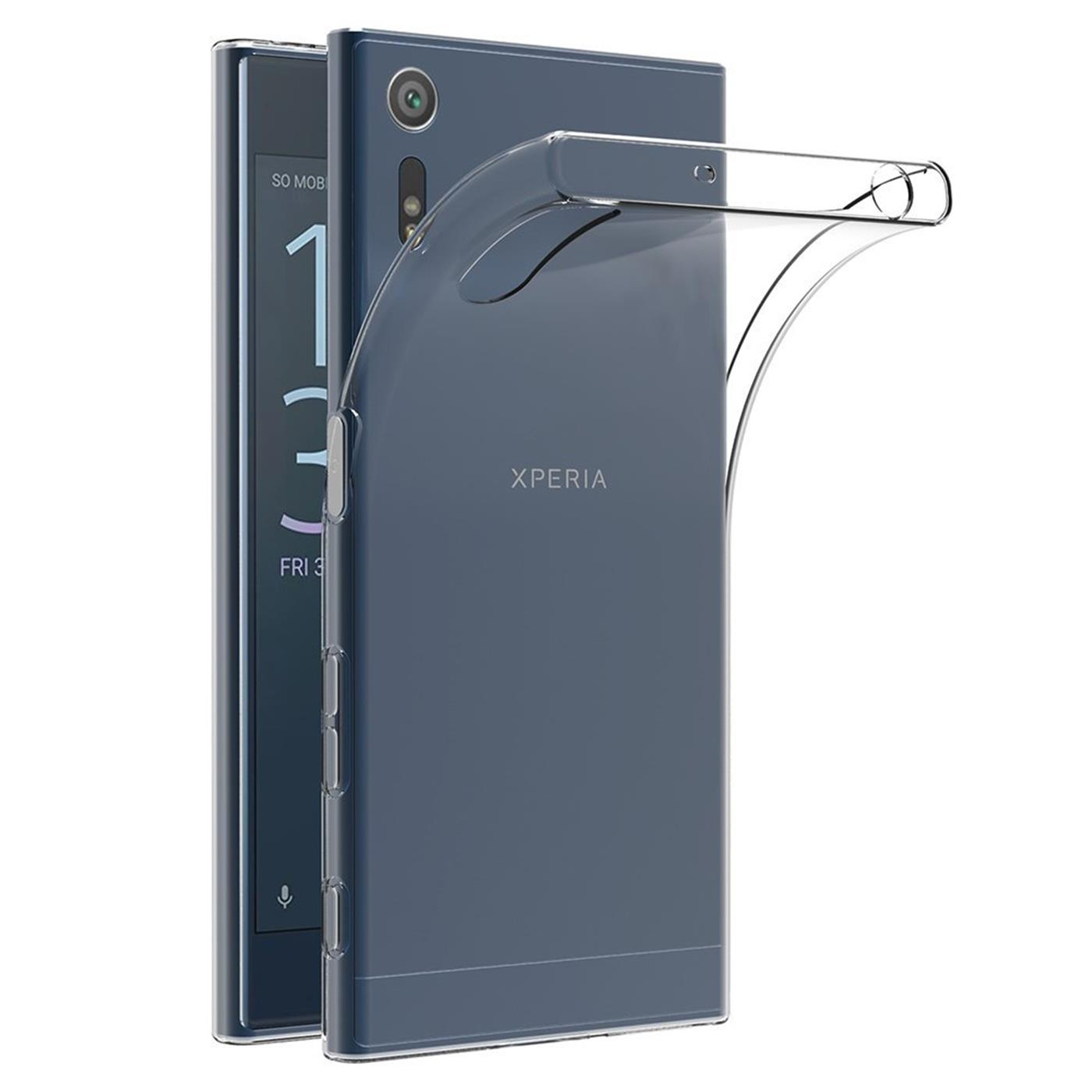 Sony-Xperia-XZ-Thin-Silikon-Klar-Case-Cover-Ultra-Slim-Stossfeste-Gel-Rueckseite