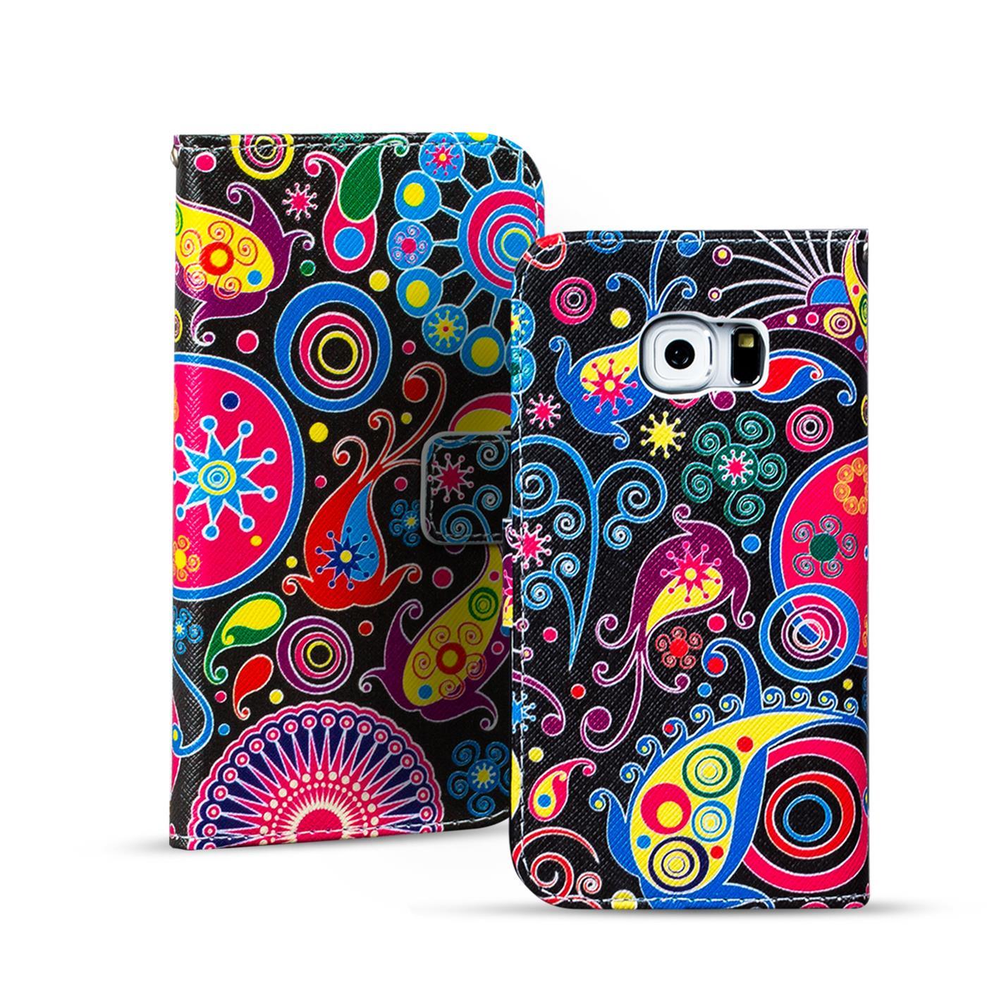 Handy-Tasche-fuer-Samsung-Galaxy-Flip-Cover-Case-Schutz-Huelle-Etui-Motiv-Wallet
