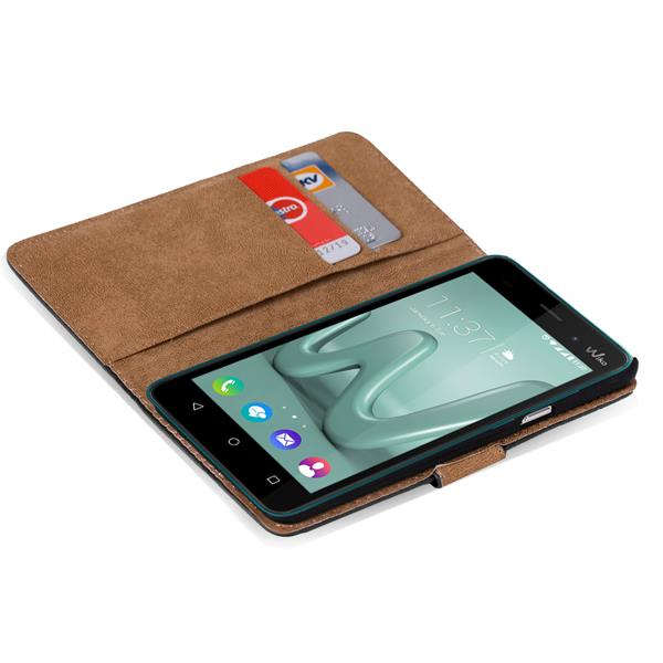 klapptasche f r wiko lenny 3 handy h lle case wallet cover. Black Bedroom Furniture Sets. Home Design Ideas