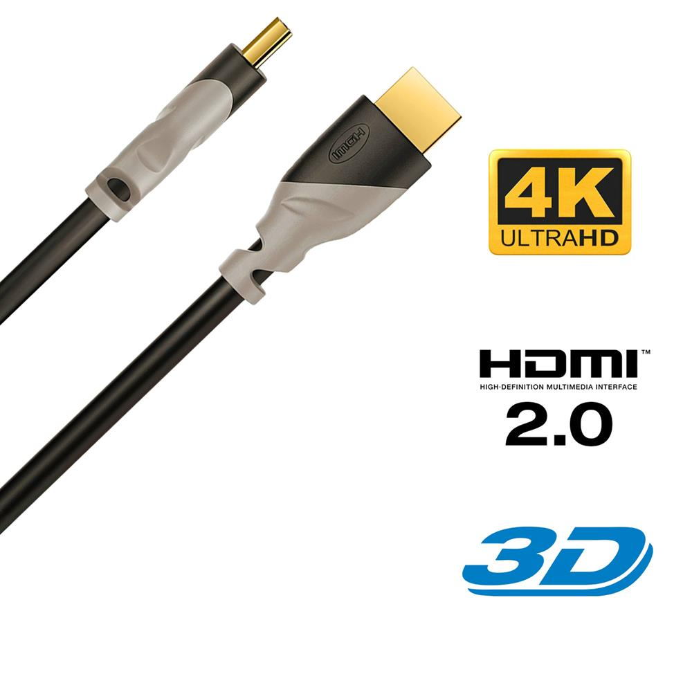1m HDMI Kabel 2.0 / 1.4 Ethernet 4K UHD FULL HD Ultra 3D HDR LED TV ...