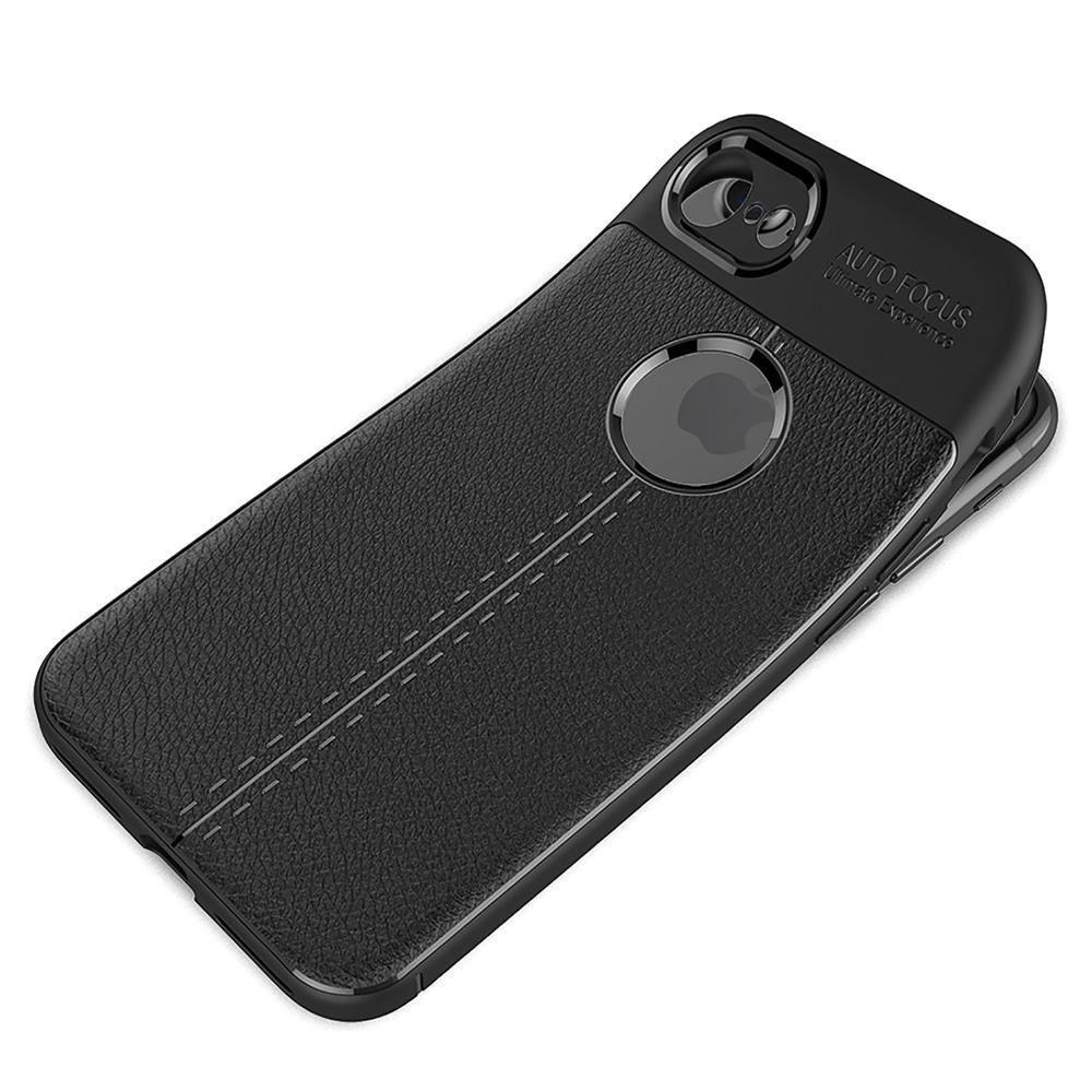 schutz h lle f r apple iphone 8 backcover handy case leder. Black Bedroom Furniture Sets. Home Design Ideas