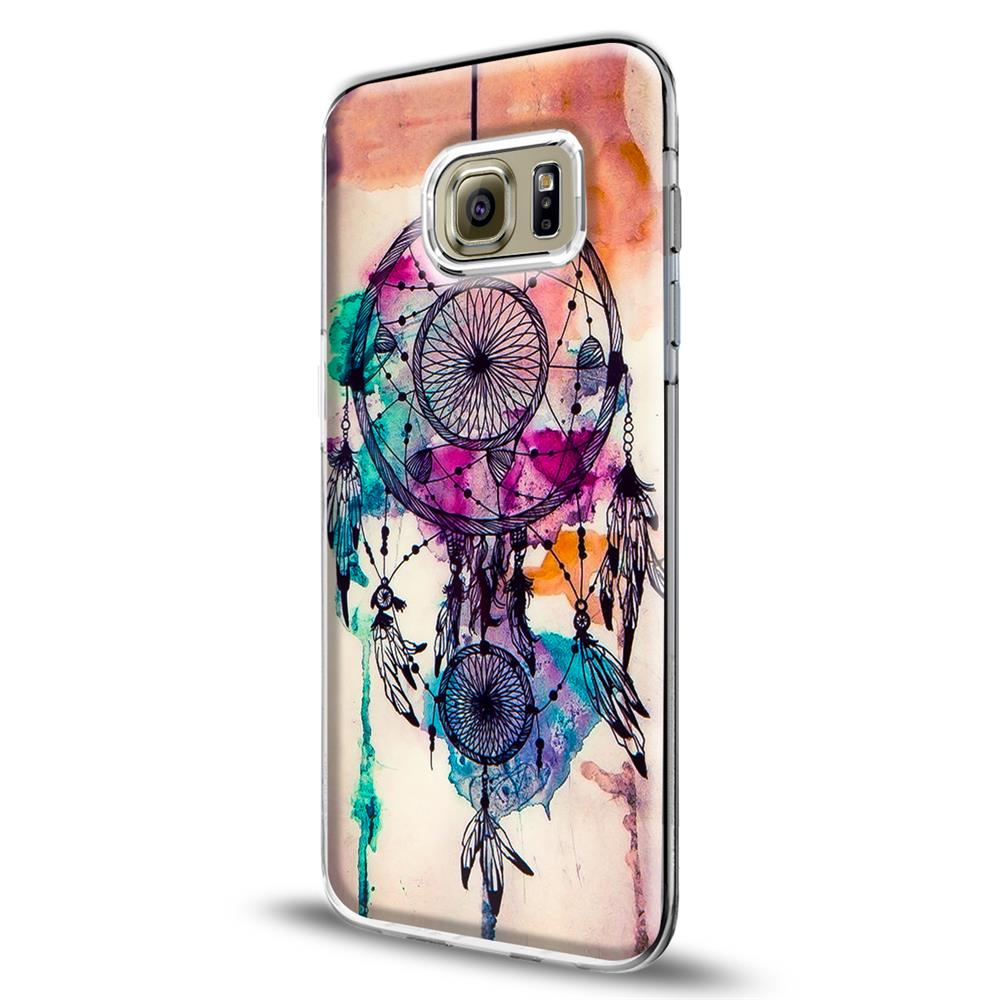 samsung galaxy s6 edge handy h lle transparent cover mit. Black Bedroom Furniture Sets. Home Design Ideas