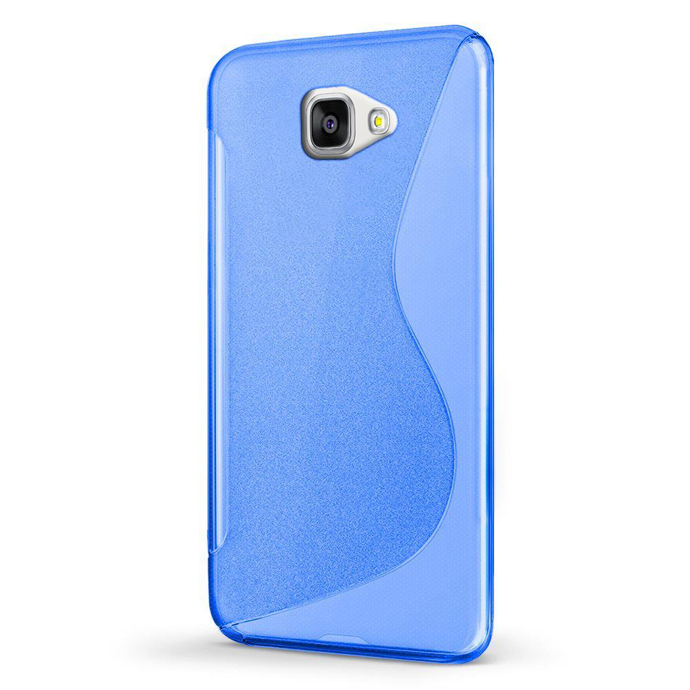 silikon h lle f r samsung galaxy a3 2016 a310 handy case cover tasche mit seitlichem grip in blau. Black Bedroom Furniture Sets. Home Design Ideas