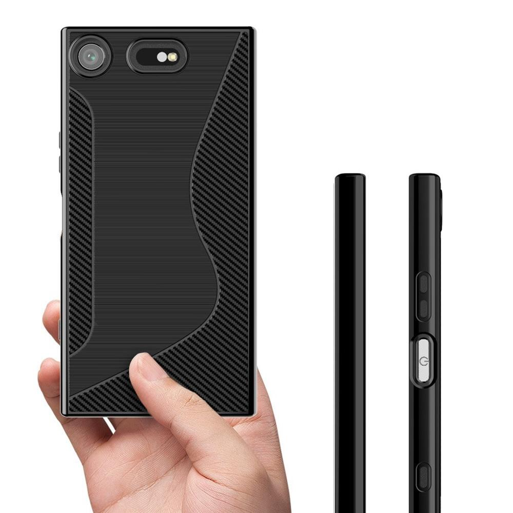 silikon h lle f r sony xperia xz1 compact case handy cover. Black Bedroom Furniture Sets. Home Design Ideas