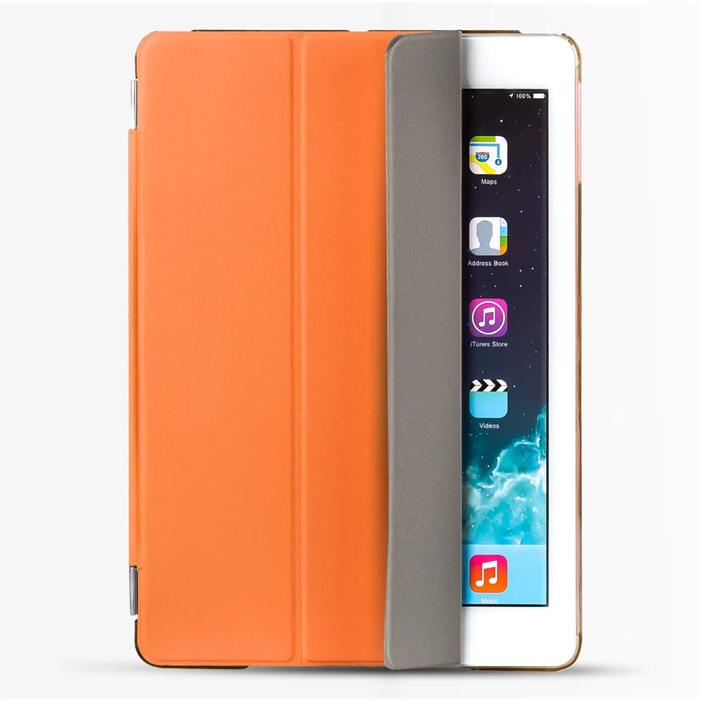 smart cover apple ipad mini 4 h lle mit wake up funktion slim tasche backcase in orange. Black Bedroom Furniture Sets. Home Design Ideas