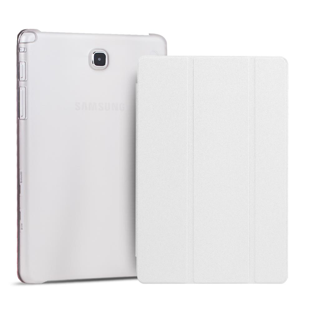 smart cover samsung galaxy tab s 10 5 t800 h lle slim tasche backcase in weiss. Black Bedroom Furniture Sets. Home Design Ideas