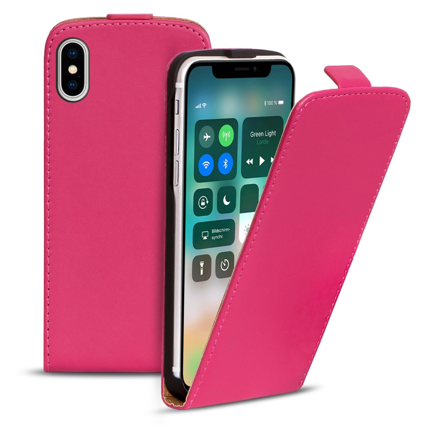 Handyhülle für Apple iPhone Slim Flip Case Handy Cover Tasche Schutzhülle Etui