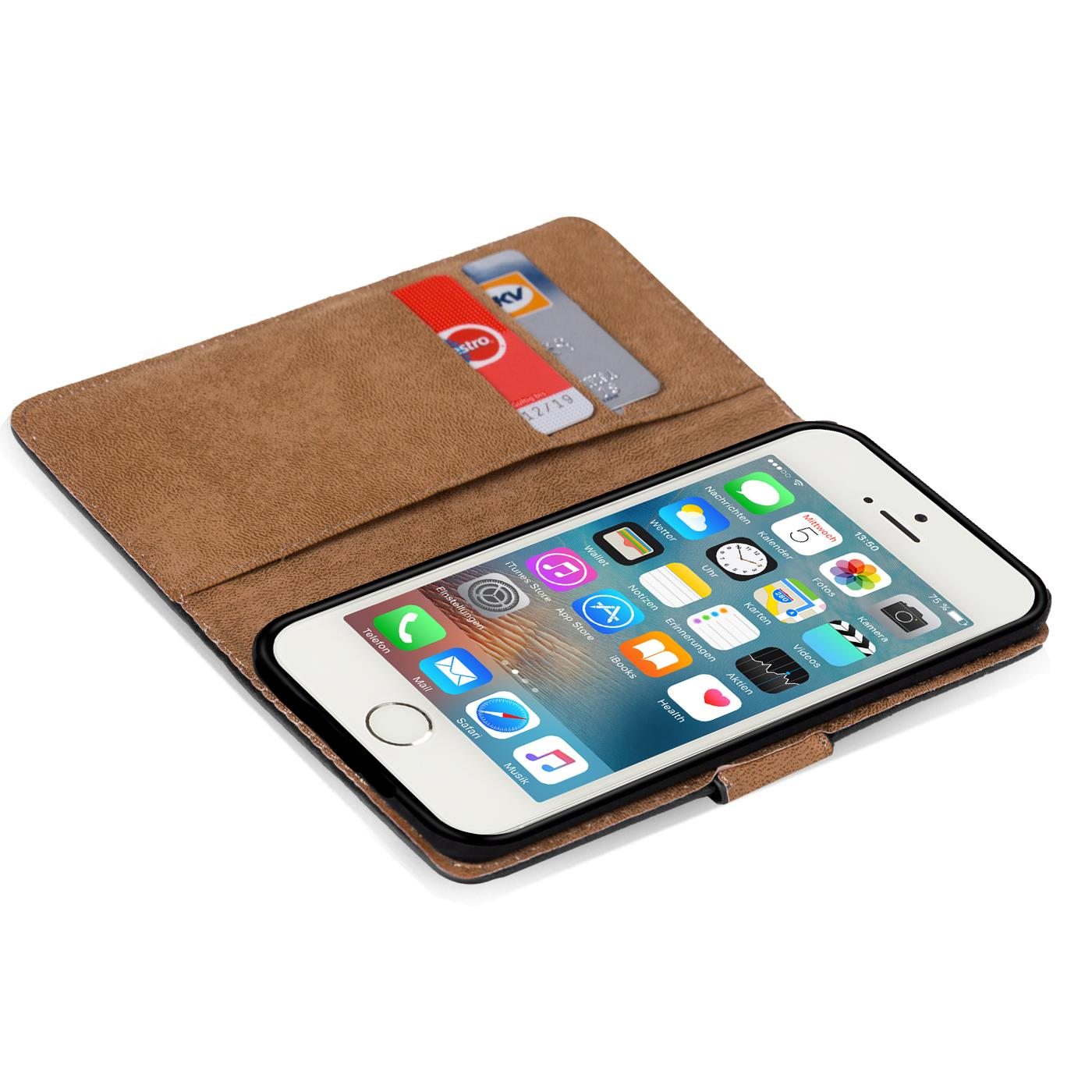 Case-Cover-Apple-iPhone-5-5S-SE-Magnetic-Flip-PU-Leather-Wallet-Holder-Shell-Bag thumbnail 4
