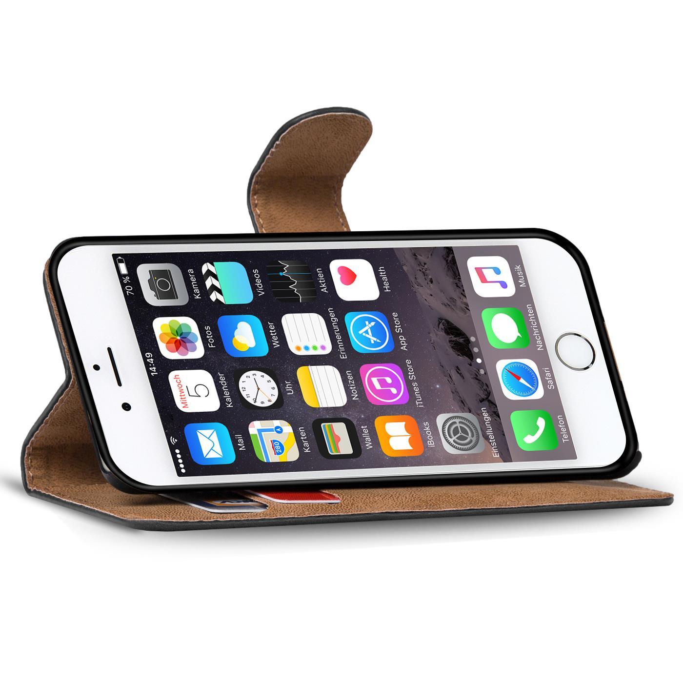 book case apple iphone 6 6s plus 5 5 h lle klapph lle handy tasche flip cover 4058455366161 ebay. Black Bedroom Furniture Sets. Home Design Ideas