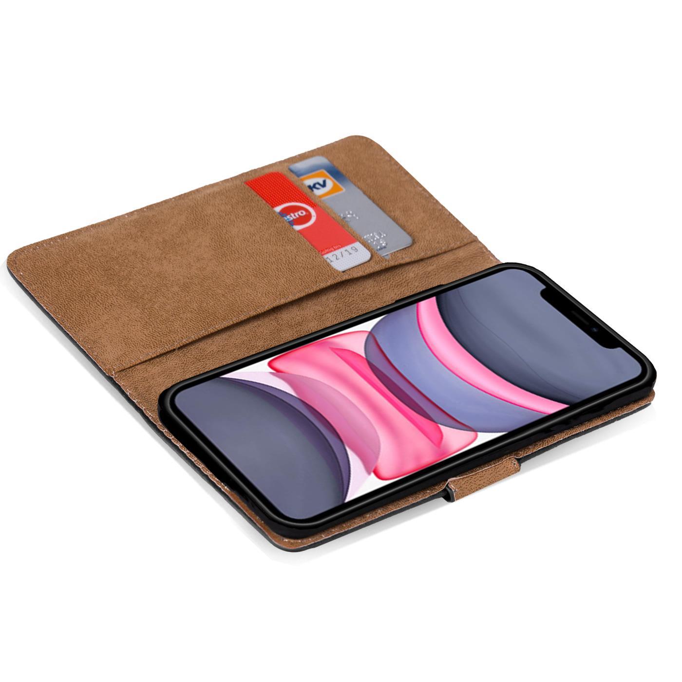 Schutzhülle Apple iPhone Etui Tasche Slim Cover PU Leder Book Case Klapp Hülle