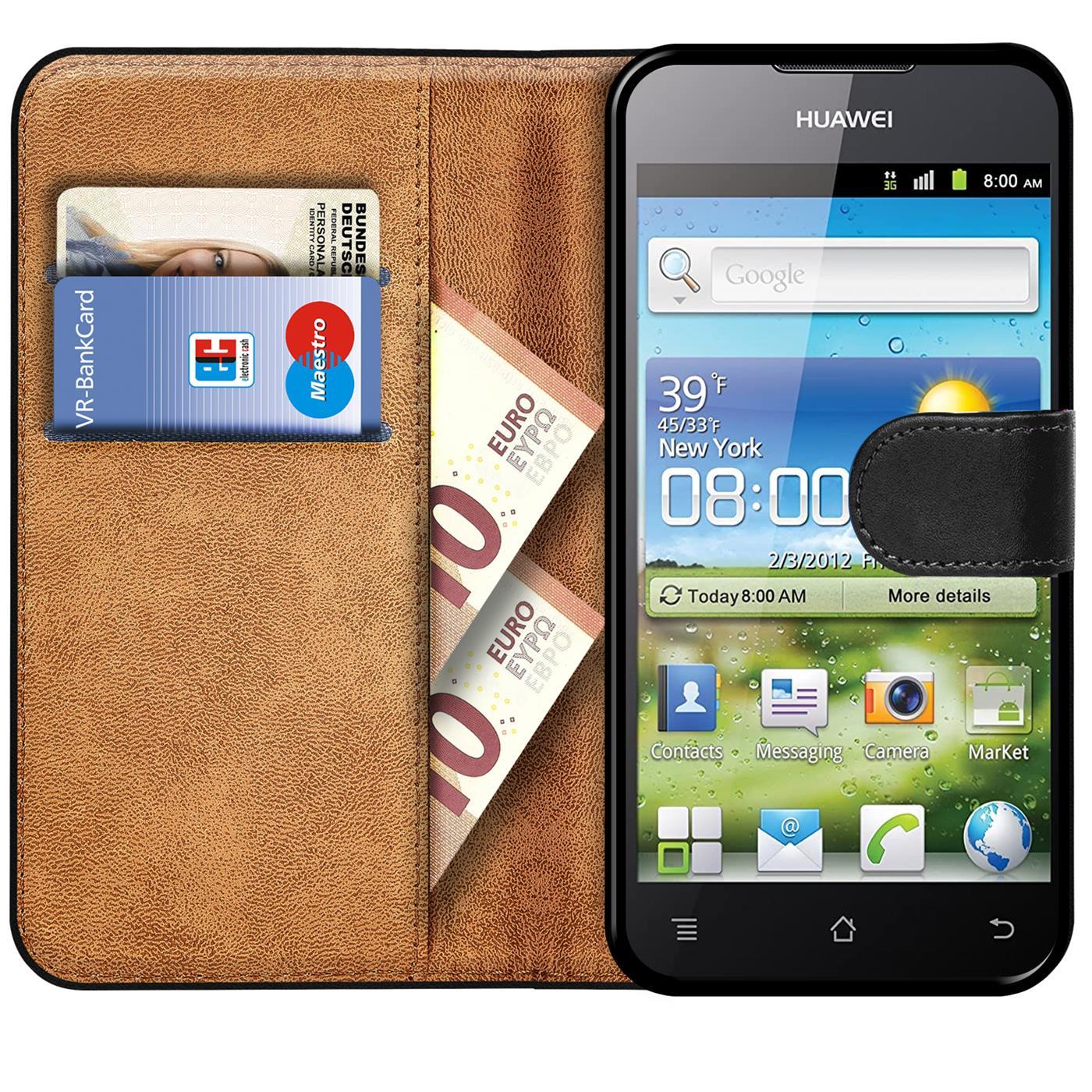 Book-Case-fuer-Huawei-G300-Huelle-Flip-Cover-Handy-Tasche-Schutz-Huelle-Schale Indexbild 9