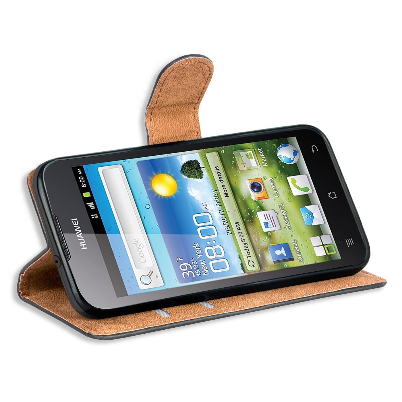 Book-Case-fuer-Huawei-G300-Huelle-Flip-Cover-Handy-Tasche-Schutz-Huelle-Schale Indexbild 10