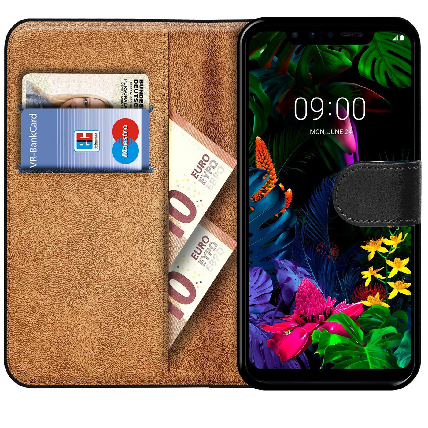 Book-Case-fuer-LG-Q60-Huelle-Flip-Cover-Handy-Tasche-Schutz-Huelle-Schale Indexbild 9