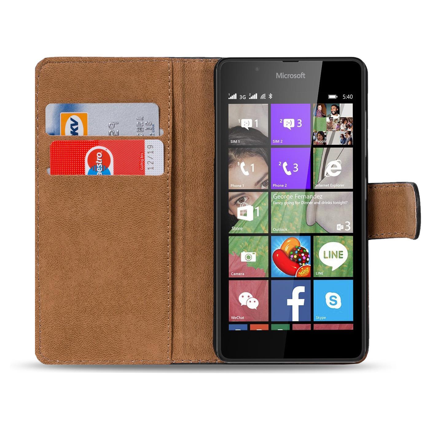 handy tasche f r microsoft lumia 540 flip cover case. Black Bedroom Furniture Sets. Home Design Ideas
