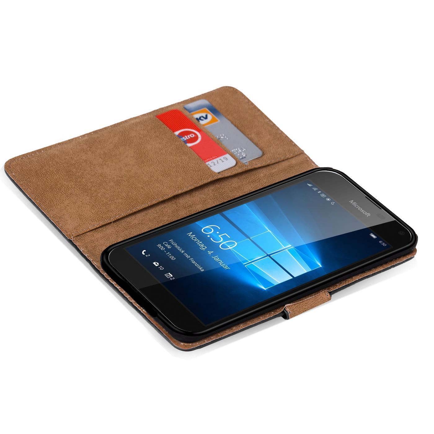 handy tasche f r microsoft lumia 650 flip cover case schutz h lle etui book pink ebay. Black Bedroom Furniture Sets. Home Design Ideas