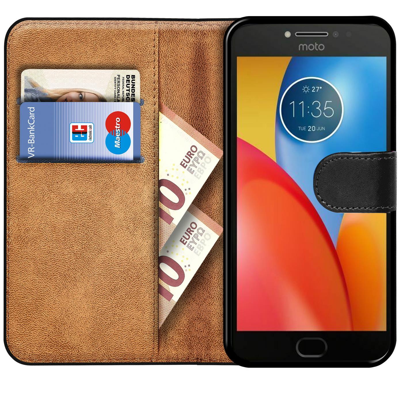 Book-Case-fuer-Motorola-Moto-E4-Huelle-Tasche-Flip-Cover-Handy-Schutz-Huelle Indexbild 9