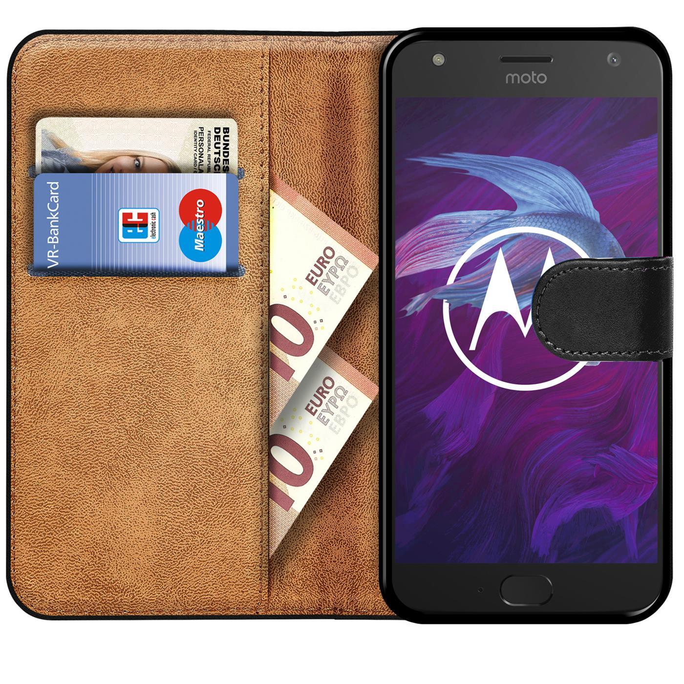 Book-Case-fuer-Motorola-Moto-X4-Huelle-Tasche-Flip-Cover-Handy-Schutz-Huelle Indexbild 9