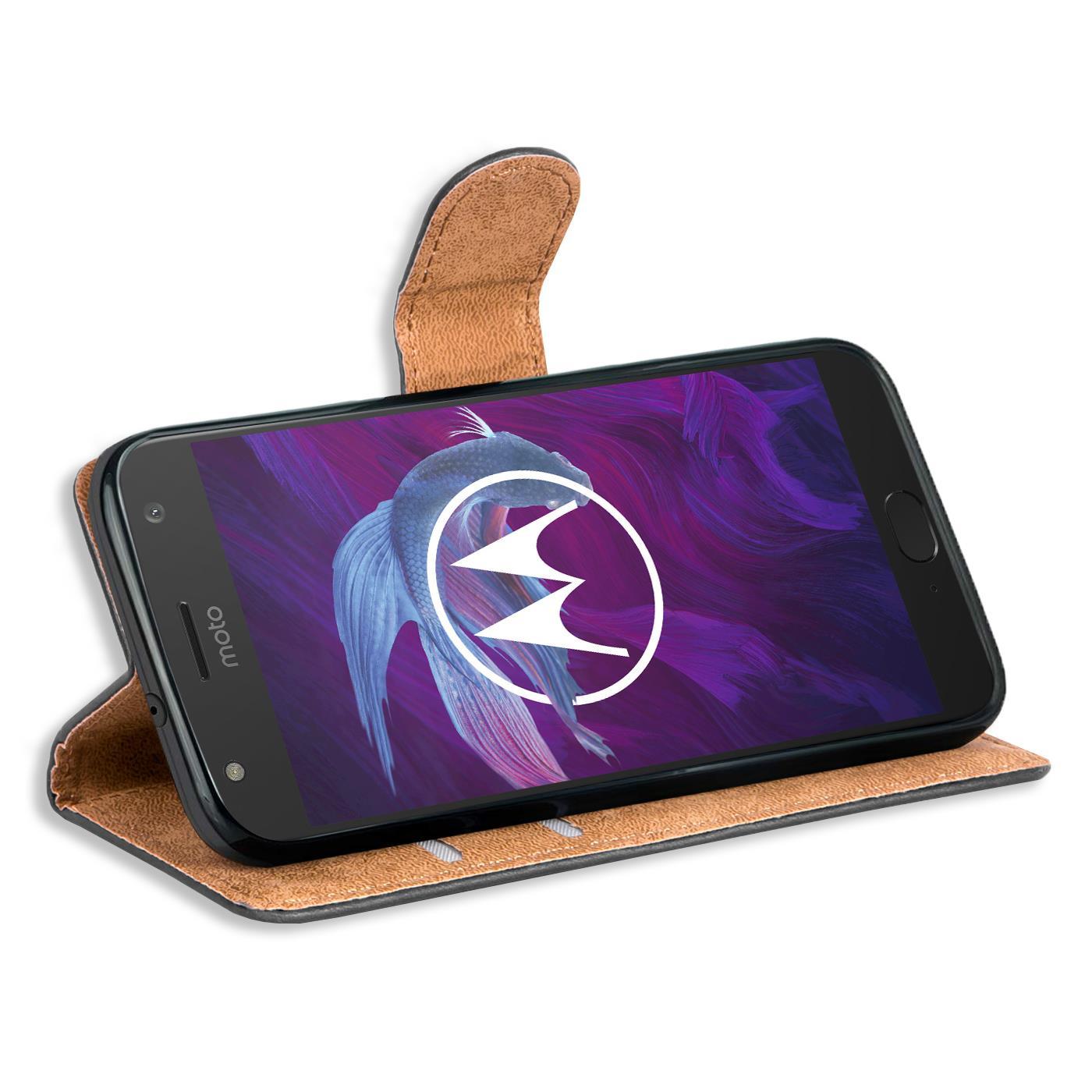 Book-Case-fuer-Motorola-Moto-X4-Huelle-Tasche-Flip-Cover-Handy-Schutz-Huelle Indexbild 10