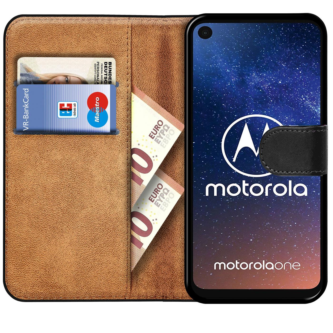 Book-Case-fuer-Motorola-One-Action-Huelle-Tasche-Flip-Cover-Handy-Schutz-Huelle Indexbild 9