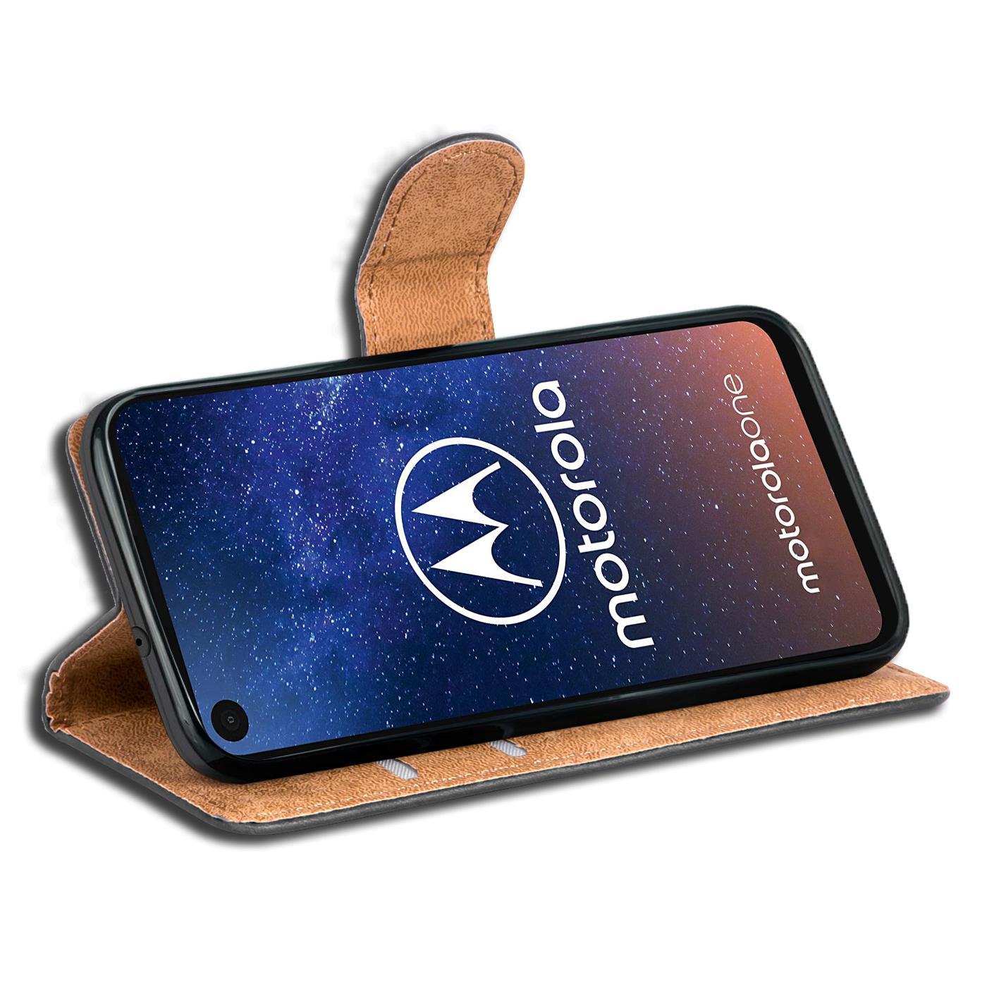 Book-Case-fuer-Motorola-One-Action-Huelle-Tasche-Flip-Cover-Handy-Schutz-Huelle Indexbild 10
