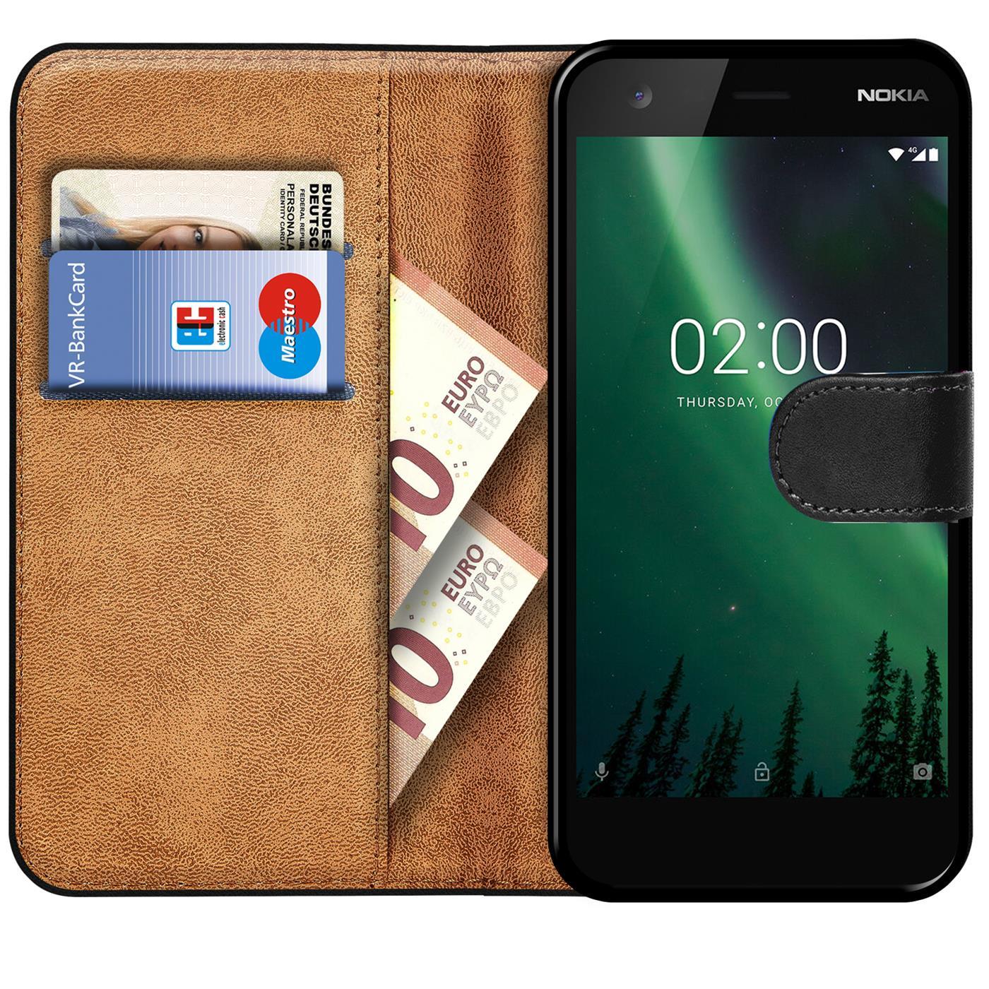 Book-Case-fuer-Nokia-2-Huelle-Tasche-Flip-Cover-Handy-Schutz-Huelle-Handyhuelle Indexbild 9