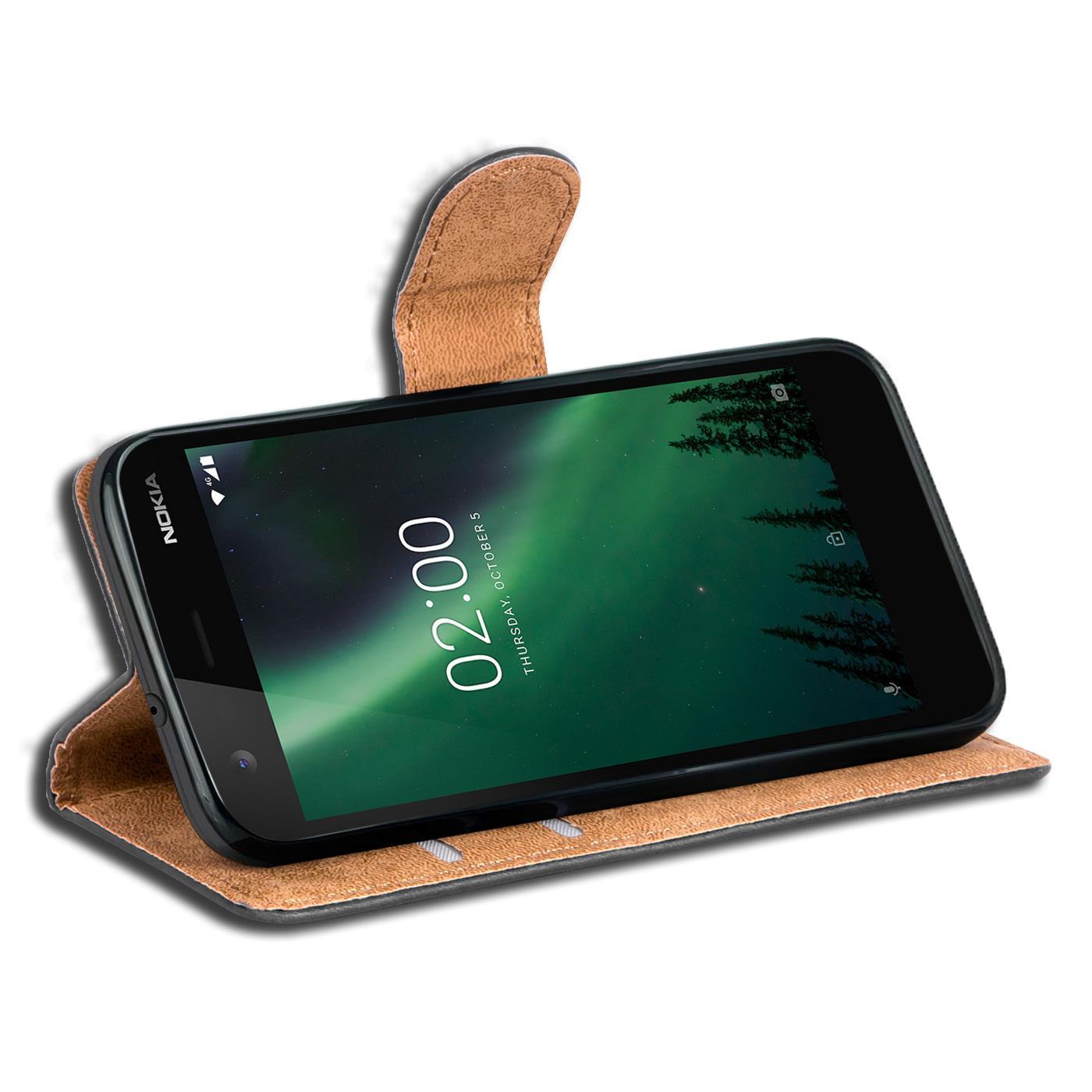 Book-Case-fuer-Nokia-2-Huelle-Tasche-Flip-Cover-Handy-Schutz-Huelle-Handyhuelle Indexbild 10