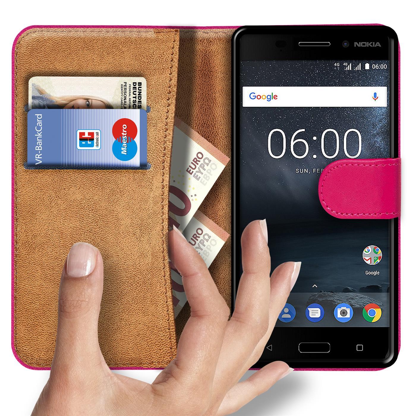 Tasche für Nokia Handy Hülle Flip Schutz Cover Case Etui Bumper Schutzhülle
