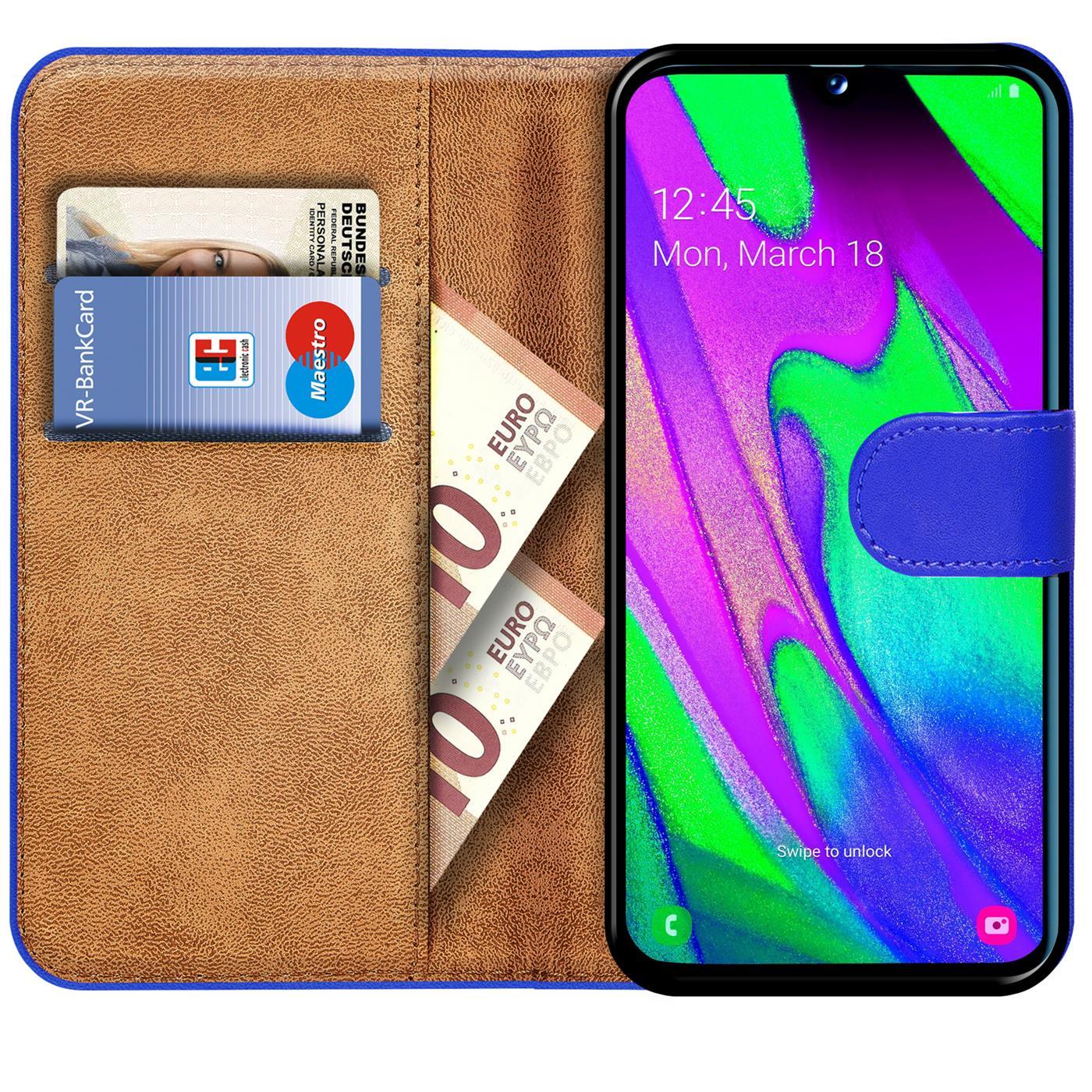 Schutz-Huelle-Samsung-Galaxy-A40-Handy-Klapp-Tasche-Book-Flip-Case-Schutzhuelle Indexbild 9
