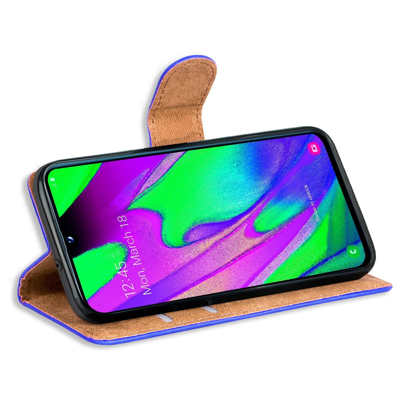 Schutz-Huelle-Samsung-Galaxy-A40-Handy-Klapp-Tasche-Book-Flip-Case-Schutzhuelle Indexbild 10