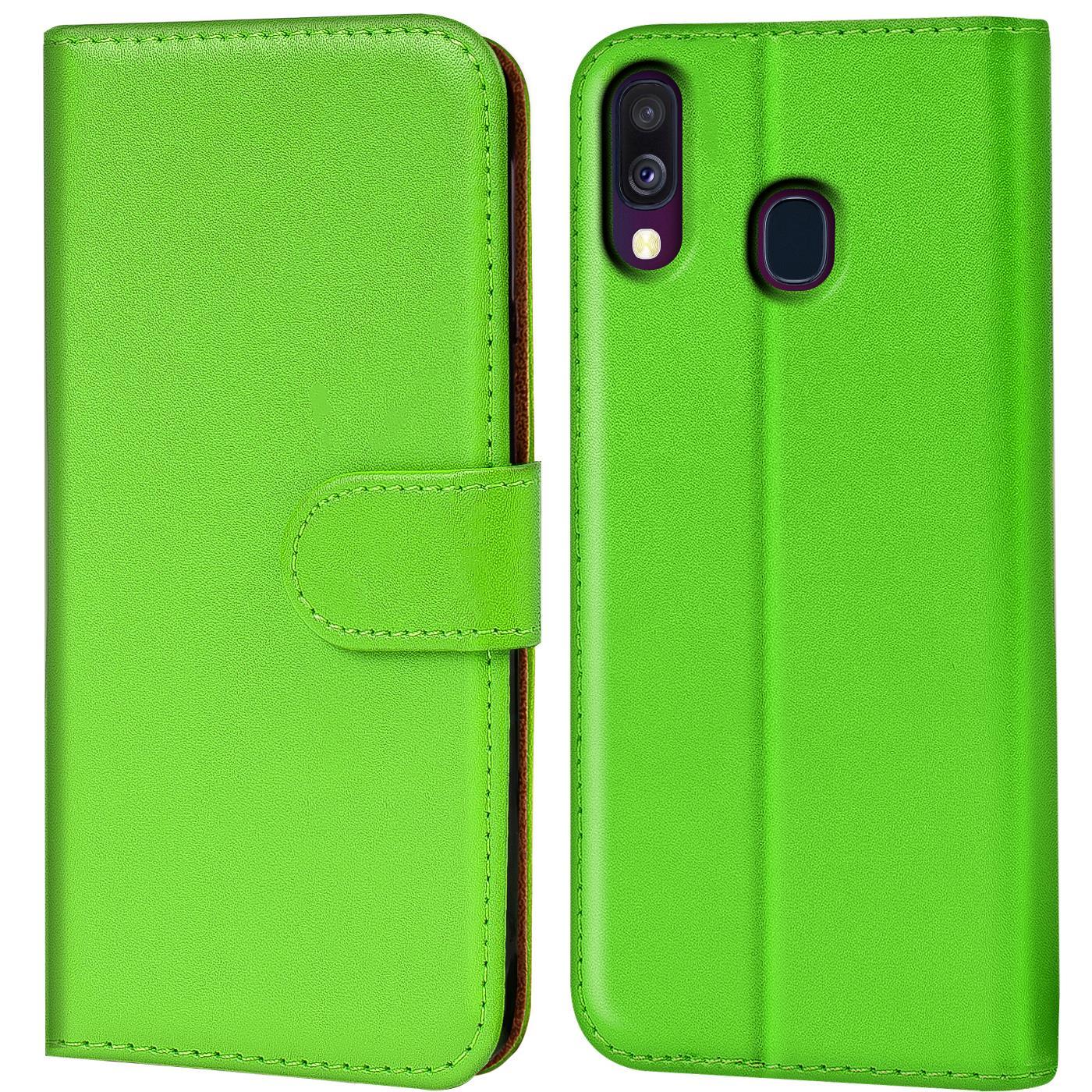 Schutz-Huelle-Samsung-Galaxy-A40-Handy-Klapp-Tasche-Book-Flip-Case-Schutzhuelle Indexbild 12