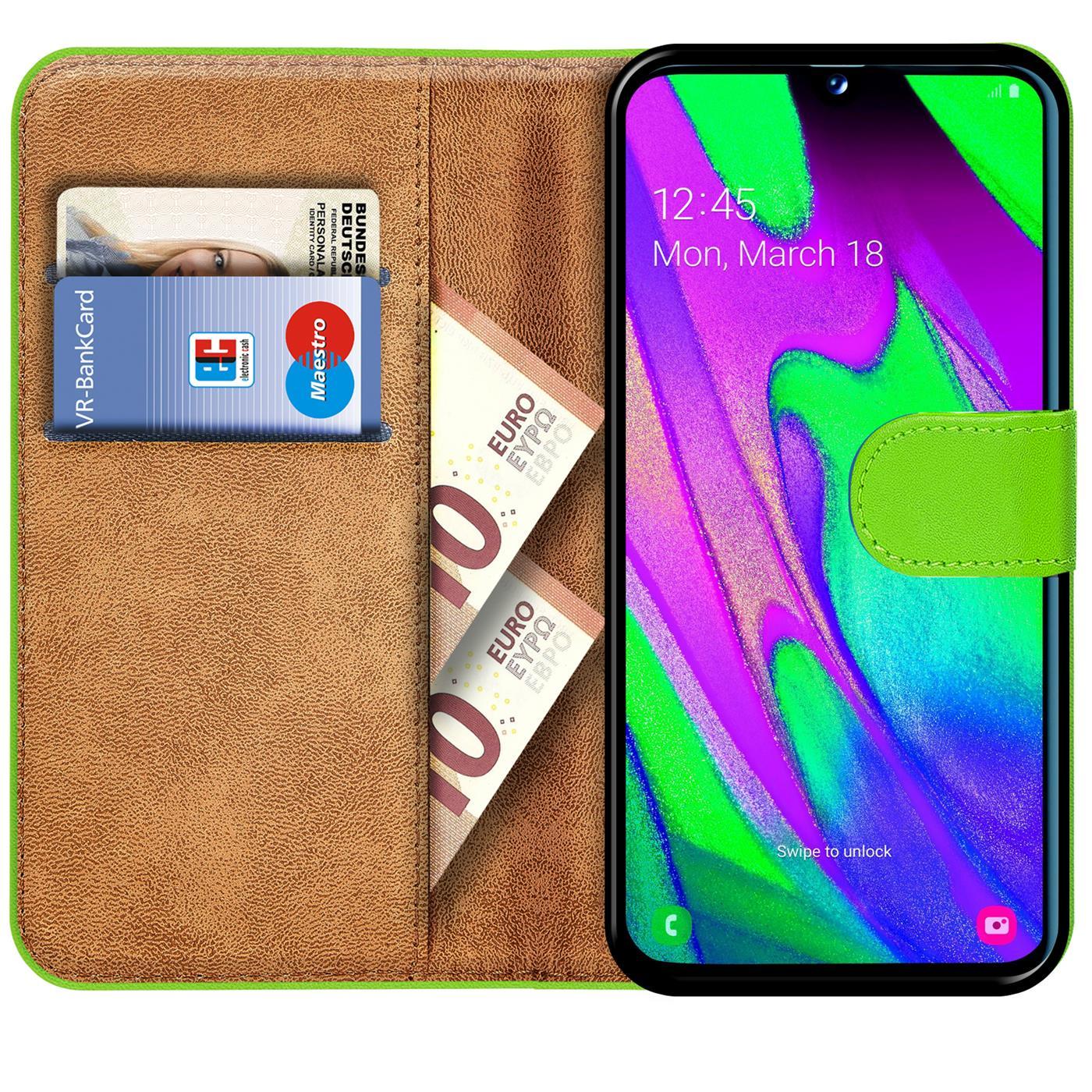 Schutz-Huelle-Samsung-Galaxy-A40-Handy-Klapp-Tasche-Book-Flip-Case-Schutzhuelle Indexbild 13