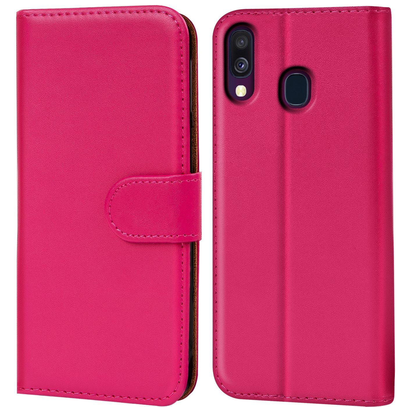 Schutz-Huelle-Samsung-Galaxy-A40-Handy-Klapp-Tasche-Book-Flip-Case-Schutzhuelle Indexbild 16