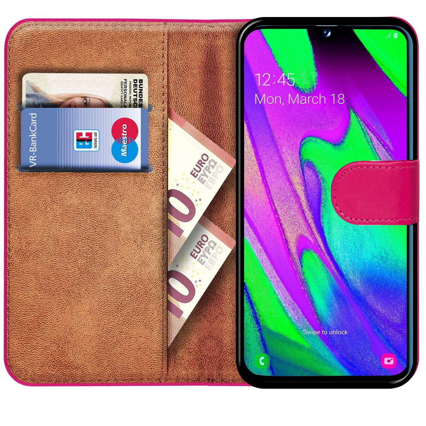 Schutz-Huelle-Samsung-Galaxy-A40-Handy-Klapp-Tasche-Book-Flip-Case-Schutzhuelle Indexbild 17