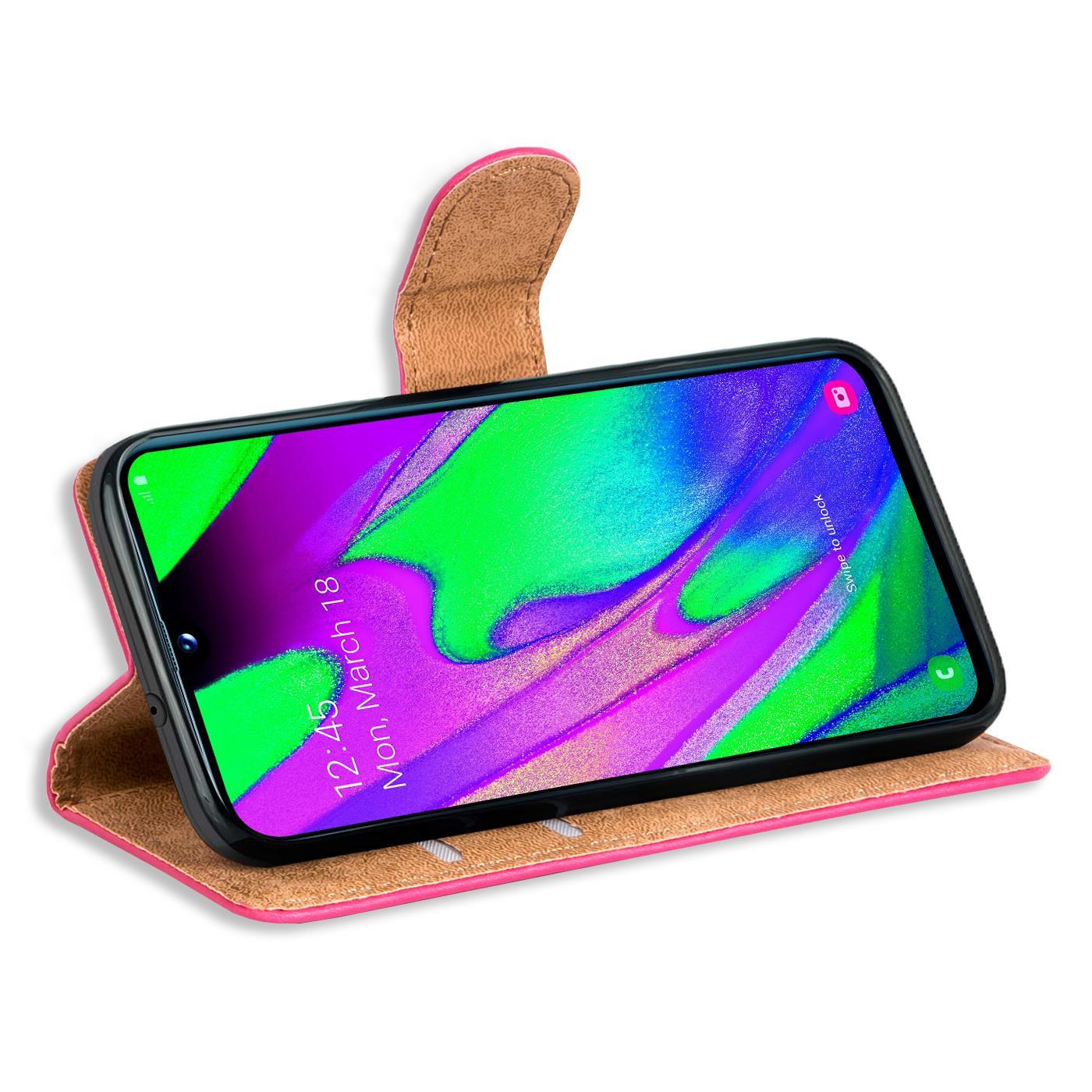 Schutz-Huelle-Samsung-Galaxy-A40-Handy-Klapp-Tasche-Book-Flip-Case-Schutzhuelle Indexbild 18