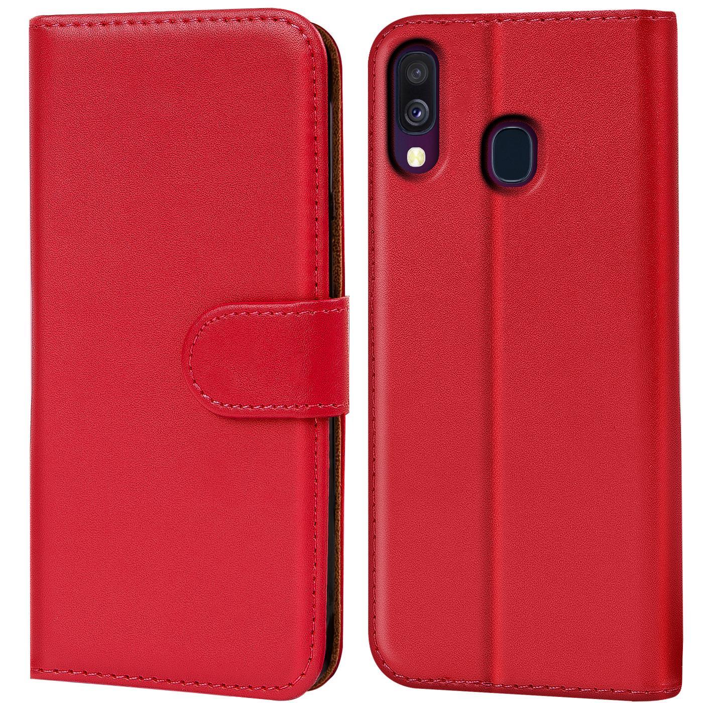 Schutz-Huelle-Samsung-Galaxy-A40-Handy-Klapp-Tasche-Book-Flip-Case-Schutzhuelle Indexbild 24