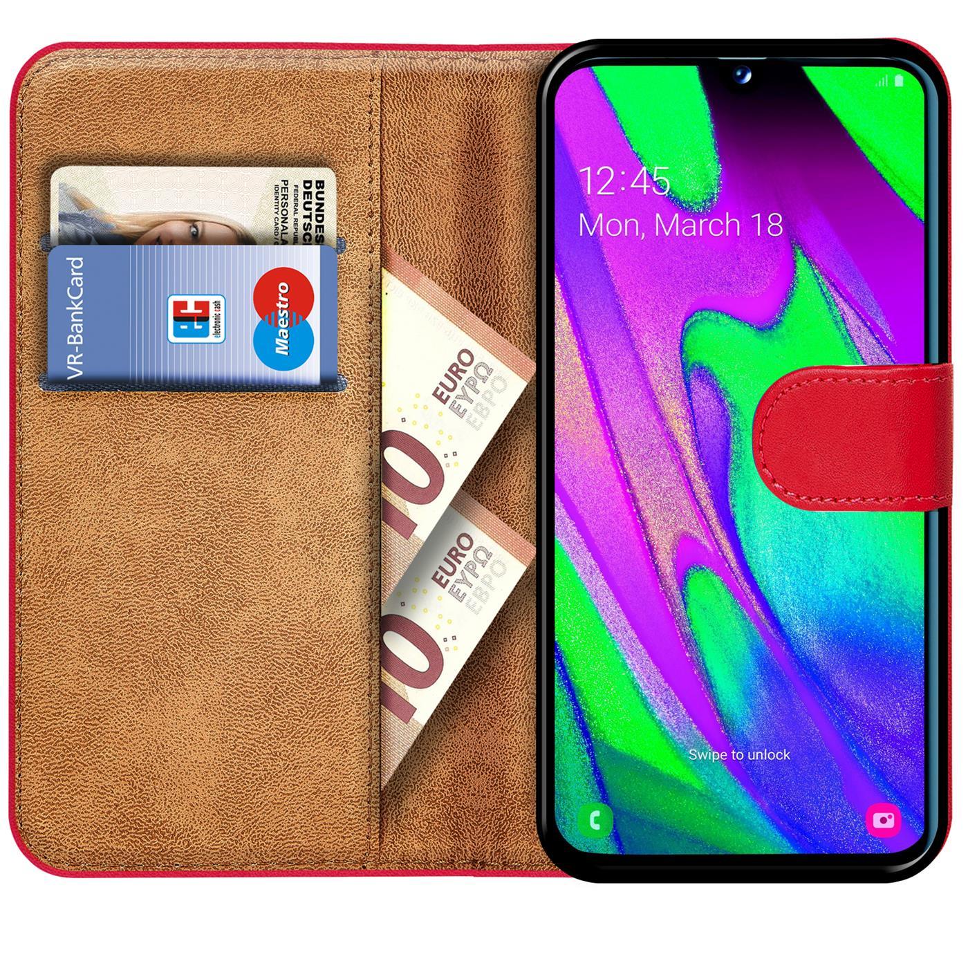 Schutz-Huelle-Samsung-Galaxy-A40-Handy-Klapp-Tasche-Book-Flip-Case-Schutzhuelle Indexbild 25