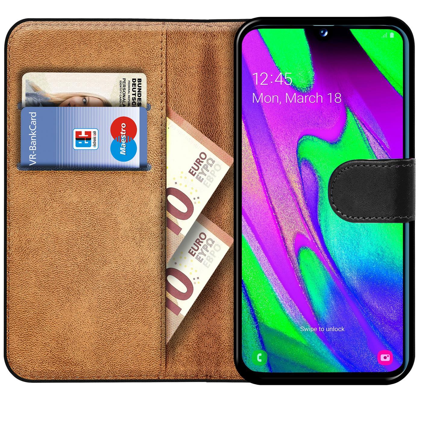 Schutz-Huelle-Samsung-Galaxy-A40-Handy-Klapp-Tasche-Book-Flip-Case-Schutzhuelle Indexbild 21