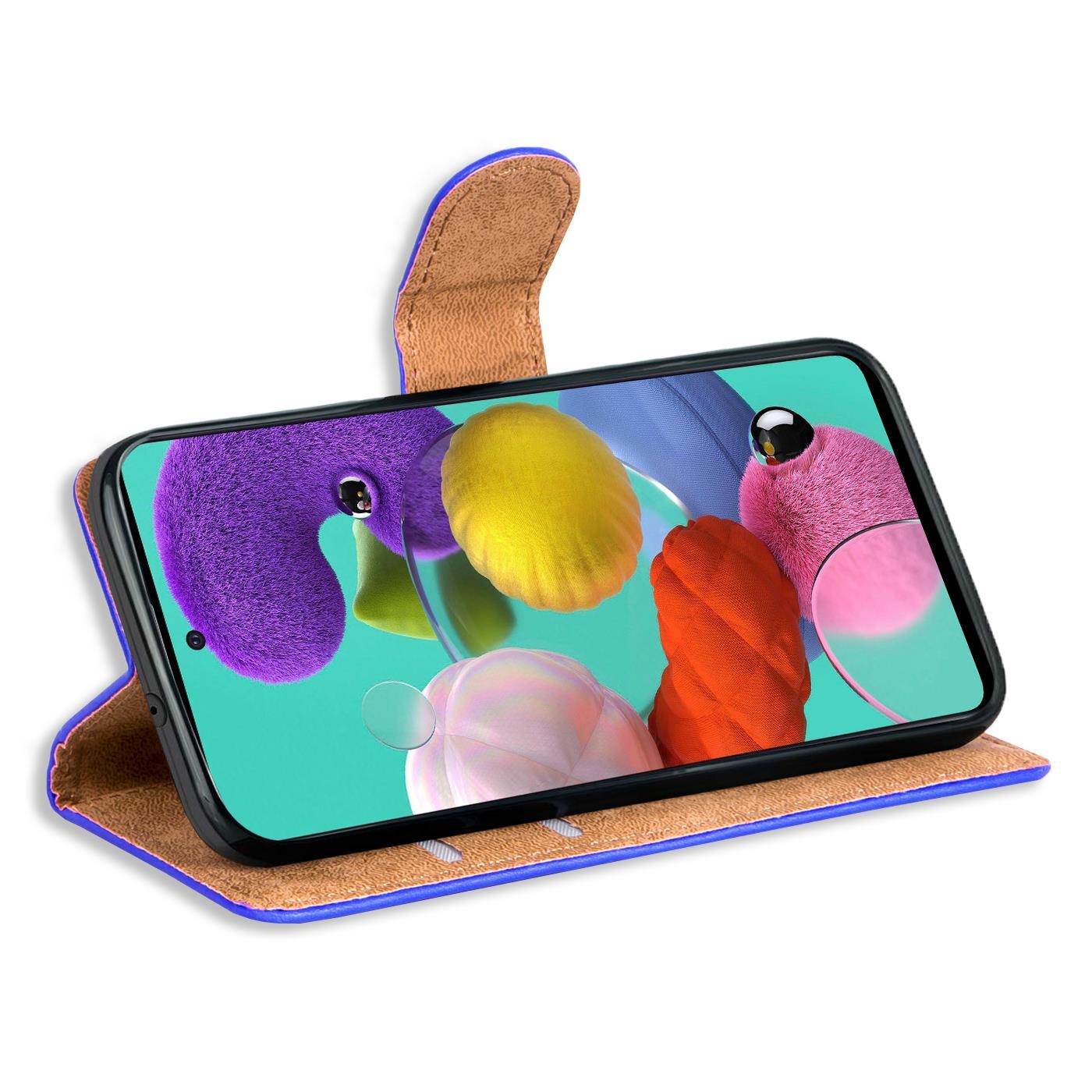 Book-Case-fuer-Samsung-Galaxy-A51-Huelle-Tasche-Flip-Cover-Handy-Schutz-Huelle Indexbild 10