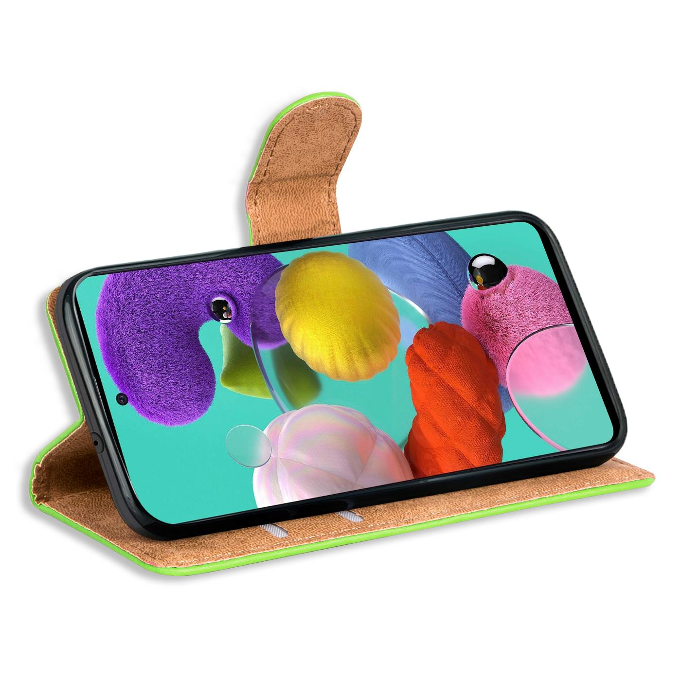 Book-Case-fuer-Samsung-Galaxy-A51-Huelle-Tasche-Flip-Cover-Handy-Schutz-Huelle Indexbild 13