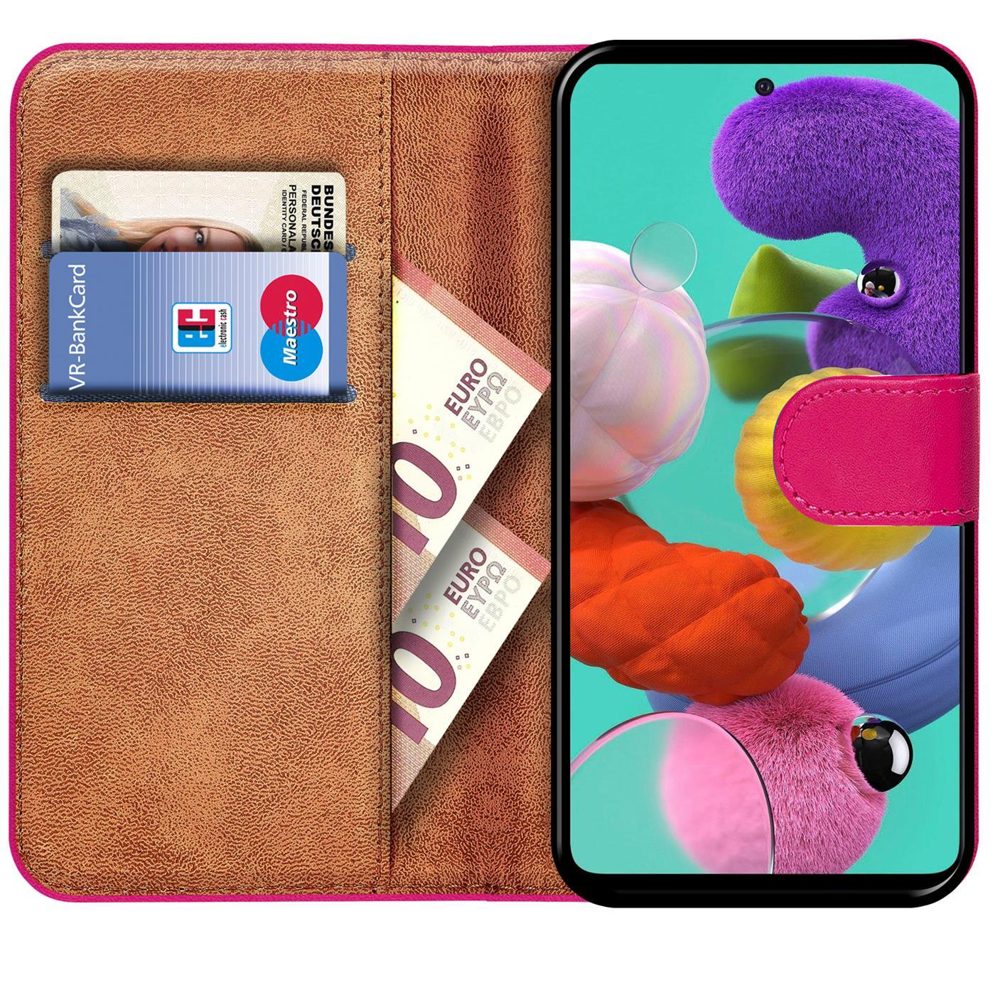 Book-Case-fuer-Samsung-Galaxy-A51-Huelle-Tasche-Flip-Cover-Handy-Schutz-Huelle Indexbild 15