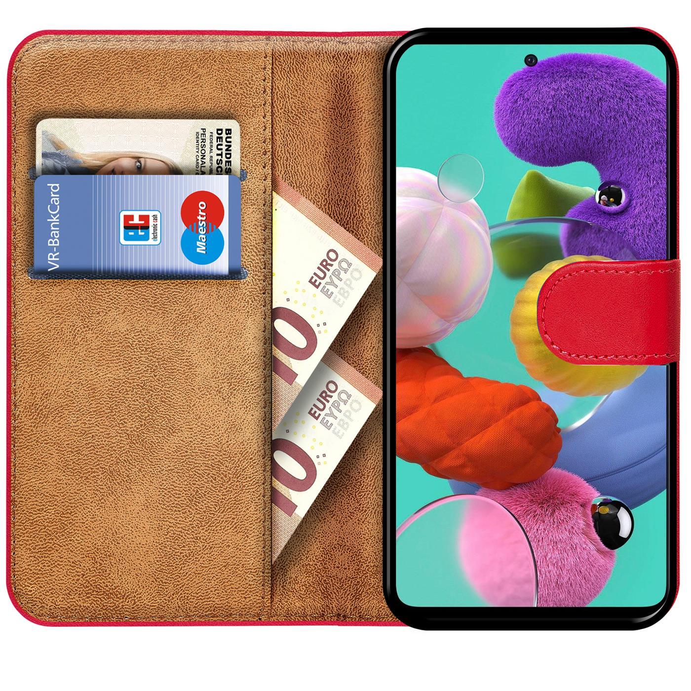 Book-Case-fuer-Samsung-Galaxy-A51-Huelle-Tasche-Flip-Cover-Handy-Schutz-Huelle Indexbild 21