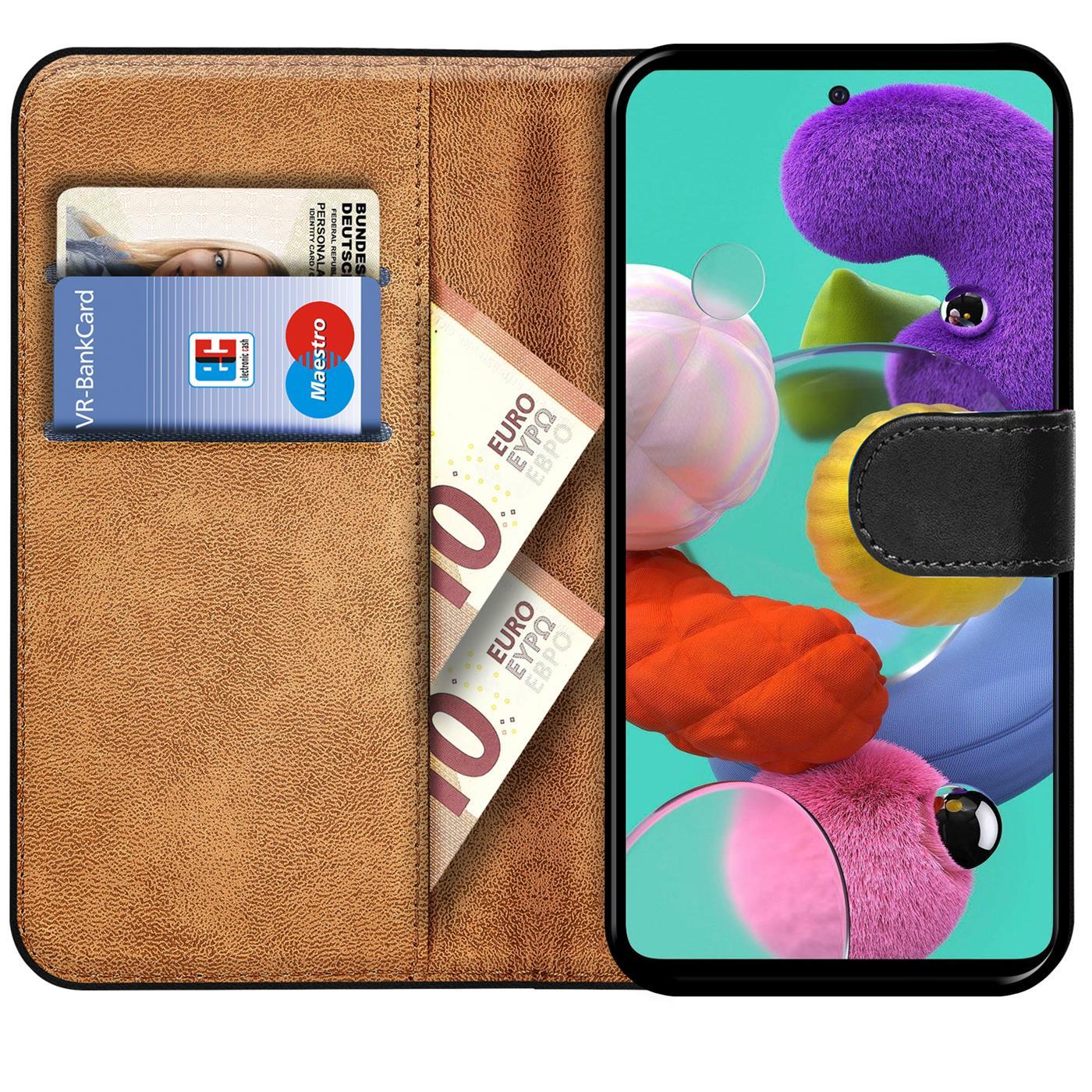 Book-Case-fuer-Samsung-Galaxy-A51-Huelle-Tasche-Flip-Cover-Handy-Schutz-Huelle Indexbild 18