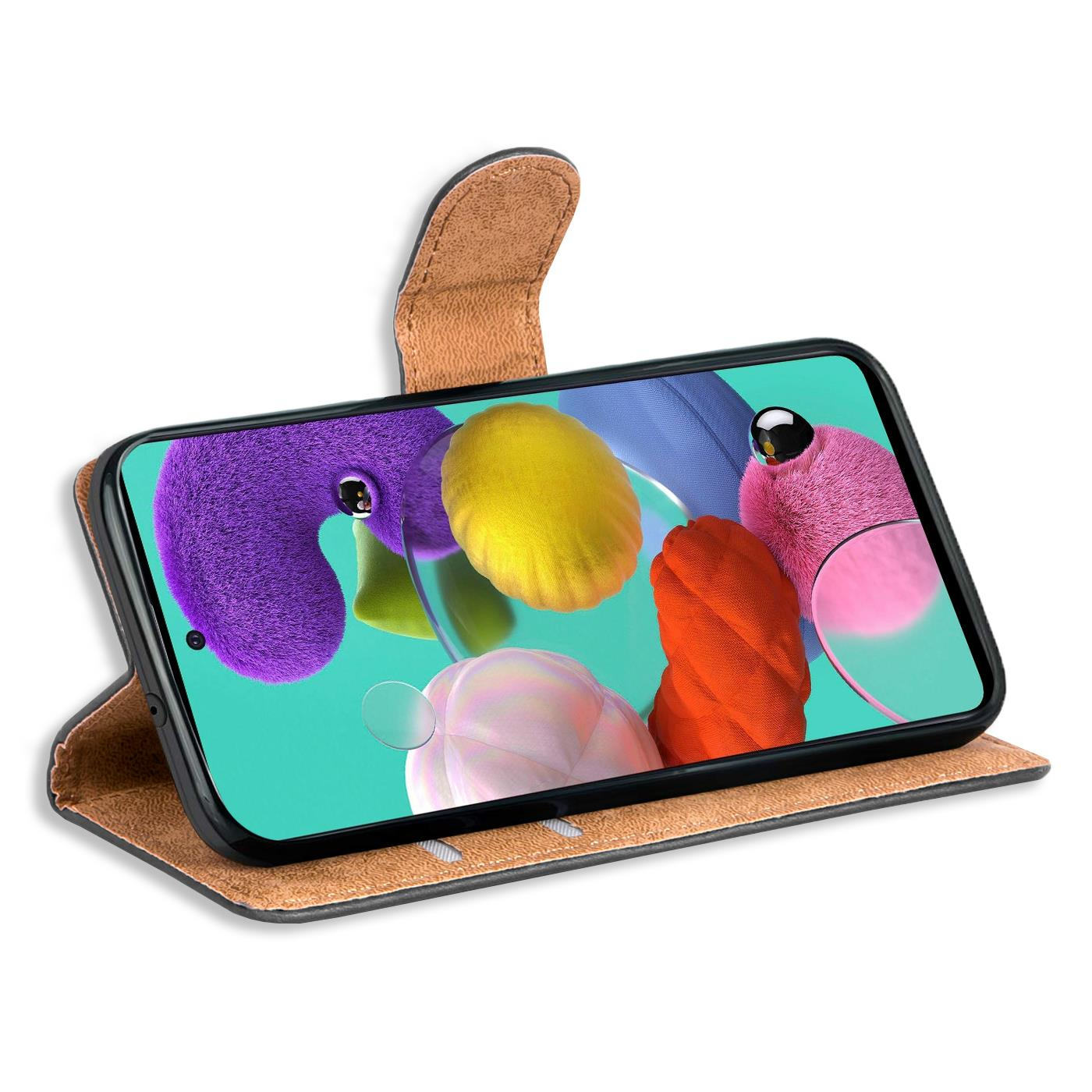 Book-Case-fuer-Samsung-Galaxy-A51-Huelle-Tasche-Flip-Cover-Handy-Schutz-Huelle Indexbild 19