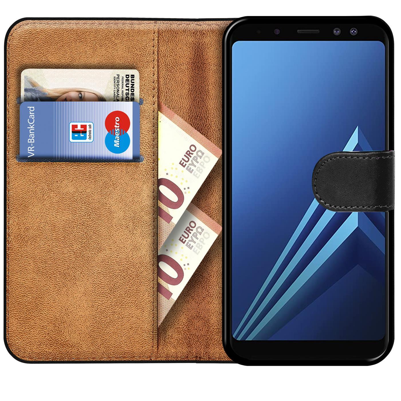 miniatuur 9 - Book Case für Samsung Galaxy A8 2018 Hülle Tasche Flip Cover Handy Schutz Hülle